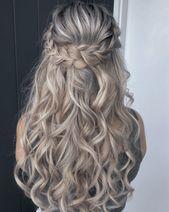 Geflochtener Halfup-Style Frisur #geflochtenefrisuren #geflochtene #frisuren