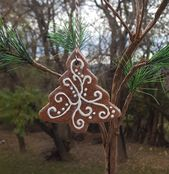 Christmas Tree Gingerbread Cookie Salt Dough Christmas Tree Ornament Handmade
