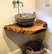 Holz Waschtische Waschtischplatten massiv auf Maß…