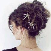 Boho hair pins / stars and moon bridal pins / heavenly hair pins / wedding accessories / bridal accessories / hair pin / festival bride / wedding …