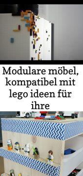 Modulare Möbel, die mit Lego-Ideen für Ihr Interieur kompatibel sind 50   – Lego