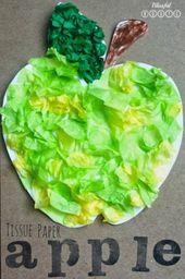 """Summery craft idea green """"apple"""""""