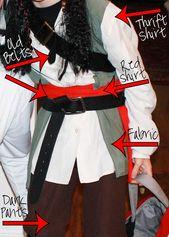 Easy DIY Jack Sparrow Costume – {CrazyHappy.Life}
