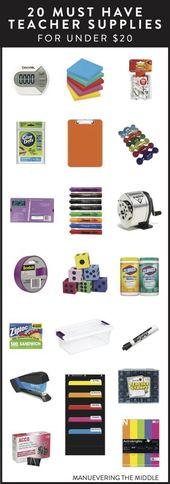 20 Must Have Teacher Supplies Under $20