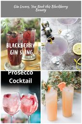 The Singapore Sling combines Gin and blackberries to make a refreshing cocktail …