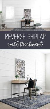 Reverse Shiplap Wall Treatment – Koffer meiner Schwester
