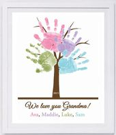 Baby Cards This keepsake is made from your loved one's actual hand and footprints! Keepsa...