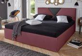 Polsterbett »Malibu«, wahlweise mit Bettkasten, Kunstlederbezug