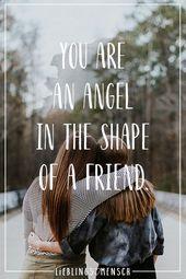 Du bist ein Engel in Form eines Freundes   – Women Fashion