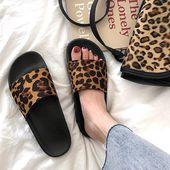 Indoor & Outdoor Leopard print summer slippers