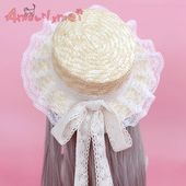 Summer Straw Hats For Women Beach Sun Hat Japanese Style Mori Girl Lolita Kawaii Princess Lace Bow Straw Hat Female Chapeu | www.troigroup.com – ˗ˏˋVictorian Fantasy ˎˊ˗