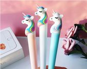 Kawaii Unicorn Silicone Gel Pen Black Gel Pen,Pretty Pens, Cute Stationery, pen