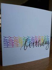 20 tolle hausgemachte Geburtstagskarte Ideen