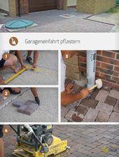 Pave garage entrance   – gardening / GaLa-Bau