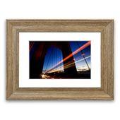 Framed Poster The Bridge of Light East Urban Home Size: 40 cm H x 50 cm W, …