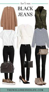 Wochenend-Inspiration: Black Jeans Three Ways – #black #fashion #Inspiration #Jean …   – herbst