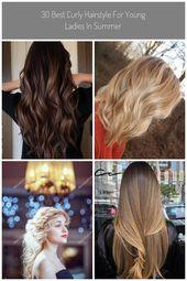 30 besten lockigen Frisur für junge Damen im Sommer #hellbraune Haar 30 besten lockigen …