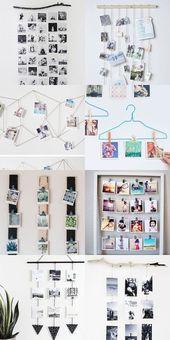 8 Ideen, um eine DIY-Collage-Galerie mit Mini-Fotos zu erstellen – #decoracion #homede …   – geschenkideen