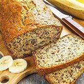 Low Carb Bananen-Schoko-Brot – gesundes Rezept zum Brot backen
