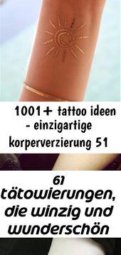 ▷ 1001+ Tattoo-Ideen – einzigartiges Körperschmuck 51   – Tattoos