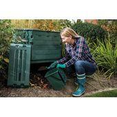 Thermo Komposter 600 Liter Graf Thermo King Komposter 80 X 80 X 104 Cm Grun Aus 100 Recyceltem Pp Kunststoff Made In Germany Mit Bildern Kompost Gartentechnik Schnellkomposter
