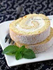 Kulinarne Spotkania Rolada Biszkoptowa Z Bita Smietana Christmas Baking Recipes Desserts Cake Recipes
