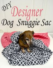 DIY Dog DIY Designer Dog Snuggie Sac - Pink Cake Plate easy tutorial to make this design...