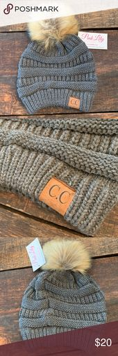 NWT C.C. Beanie NWT C.C. Beanie.  In gray with brown tan attached pom.  Brown C…. – My Posh Picks