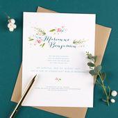 Schöne Hochzeitseinladungen Luxus-Texte und Zitate für Hochzeitseinladungen   – Hochzeitskarten