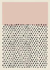 Druck der modernen Kunst der Mitte des Jahrhunderts, abstraktes unbedeutendes Plakat bunt, gr…