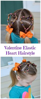 Heart Shaped Hairstyles are definitely popular during Valentine's Day. Learn ,  #day #hairsty…