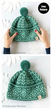 5 Fair Isle Hat Free Knitting Pattern