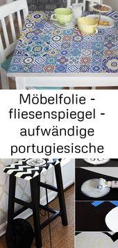 Möbelfolie – fliesenspiegel – aufwändige portugiesische fliesen – möbel klebefolie 3