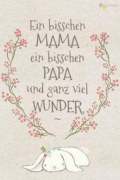 Baby Cards #Baby #Glückwünsche #Karte #Geburt #Sprüche  Die Geburt eines Kindes ist ein ...