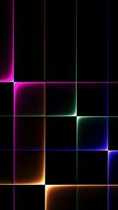 Samsung Galaxy A8 Background With 3d Dark Objects Cool