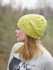 Hand knitted hat, autumn winter hat, lime women hat, urban wool hat, wool beany,Hand knit beany, Spr – Products