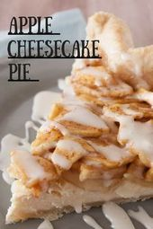#SchokoKäsekuchen-Apple Cheesecake Pie – #Apfel #Käsekuchen #Pie – #Apfel – –