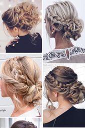 24 einfache Tipps für Hochzeit Braids Frisuren Bilder, Ideen & Designs   – Hair