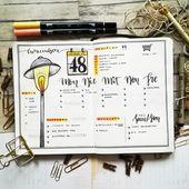 Meine Weeklys auf einem Blick – Bullet Journal – D…