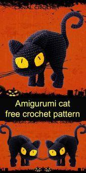 Amigurumi Cat Crochet Pattern Easy Video Tutorial | Crochet cat ... | 340x170