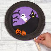 Spooky Paper Plate Scene
