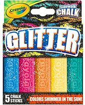 "Amazon.com: Crayola Outdoor Chalk, Glitter Sidewalk Chalk, Summer Toys, 5 Count:…   – Kaitlynn""s"