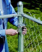 Guide To Installing A Chain Link Fence Nbsp At The Home Depot Chain Link Fence Installation Chain Link Fence Fence