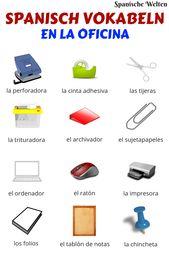 Spanisch Vokabeln: Im Büro