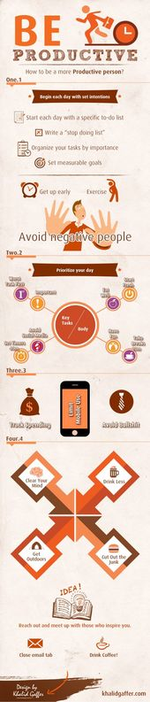 How to be a more productive person infographic