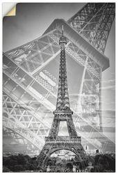 Wandfolie »M. Bratsche: Der doppelte Eiffelturm II, einfarbig «   – Products