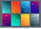 Technology or modern abstract composition. Text box surface. Brochure cover design. Title sheet mockup set. Home font. Vector design. Stock Vector (Ro …