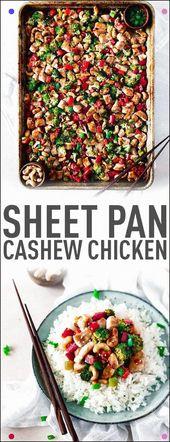 Dieses Easy Sheet Pan Dinner-Cashew-Huhn ist perfekt für jeden geschäftigen Tag. Zügig zu …