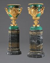 A MONUMENTAL PAIR OF NEOCLASSICAL STYLE GILT BRONZE MOUNTED | Lot #69284 | Heritage Auctions