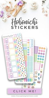 Printable Sweet Desserts Weekly Planner Sticker Kit for Hobonichi Weeks